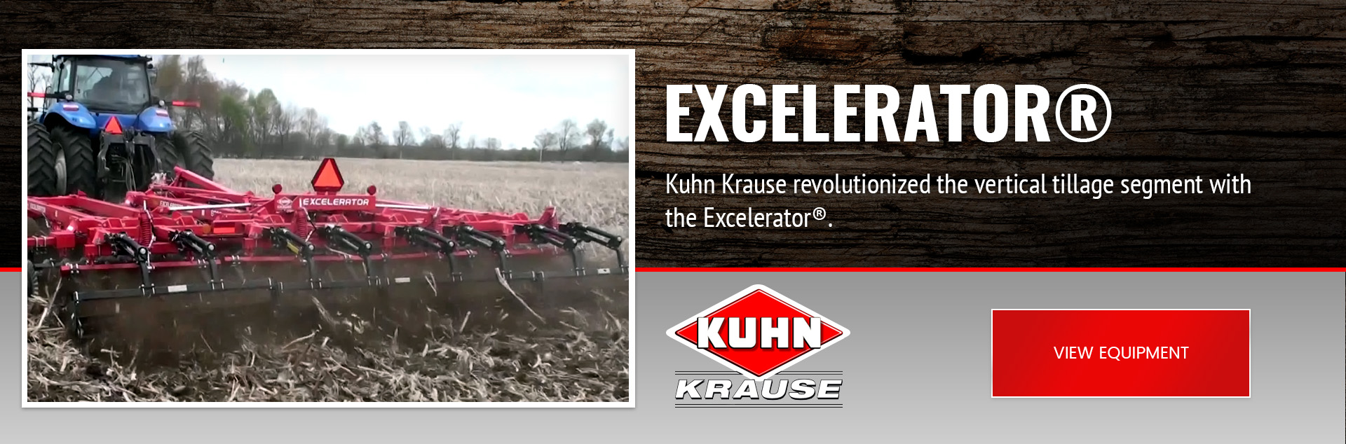 Kuhn Krause revolutionized the vertical tillage segment with the Excelerator®. This product delivers high-speed residue cutting and soil mixing that incorporates many tillage techniques in a single pass.